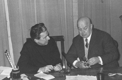 Vladimir Pozner et Victor Chklovski à Paris, années 1960. (Photo André Pozner)